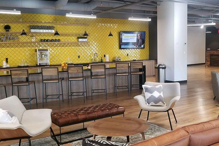 Cafe area at Venture X Marlborough