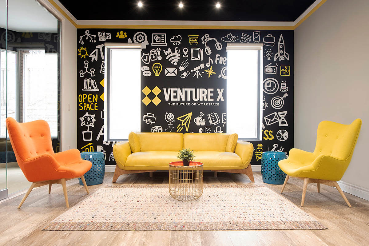 Venture X coworking space lounge